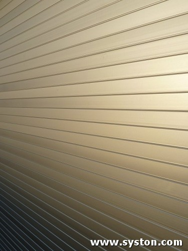 Aluminium Rolling Shutters A50 with silver anodised finish