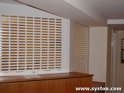 Aluminium Rolling Shutters Vision 38 with punched laths