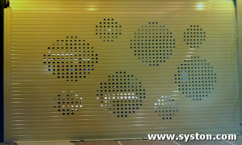 Aluminium Rolling Shutters Vision 90 with 45mm holes in special pattern