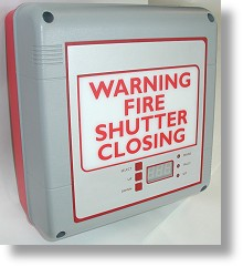 Flame Shield audio-visual warning panel