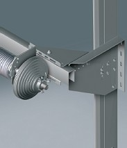 ISO-40 Insulated Sectional Overhead Door - Low level spring support