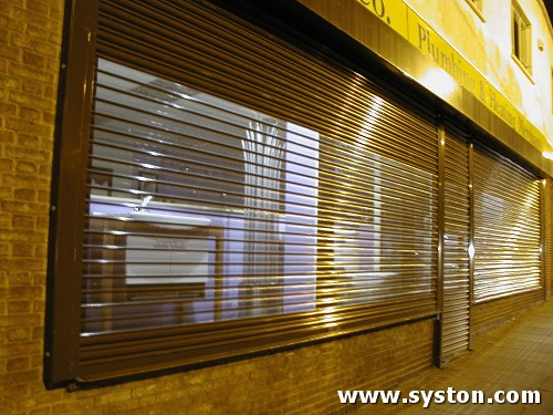 Steel Rolling Shutter with 75mm perforated laths