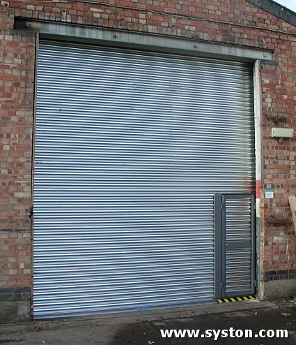 Steel Rolling Shutter with Wicket Gate